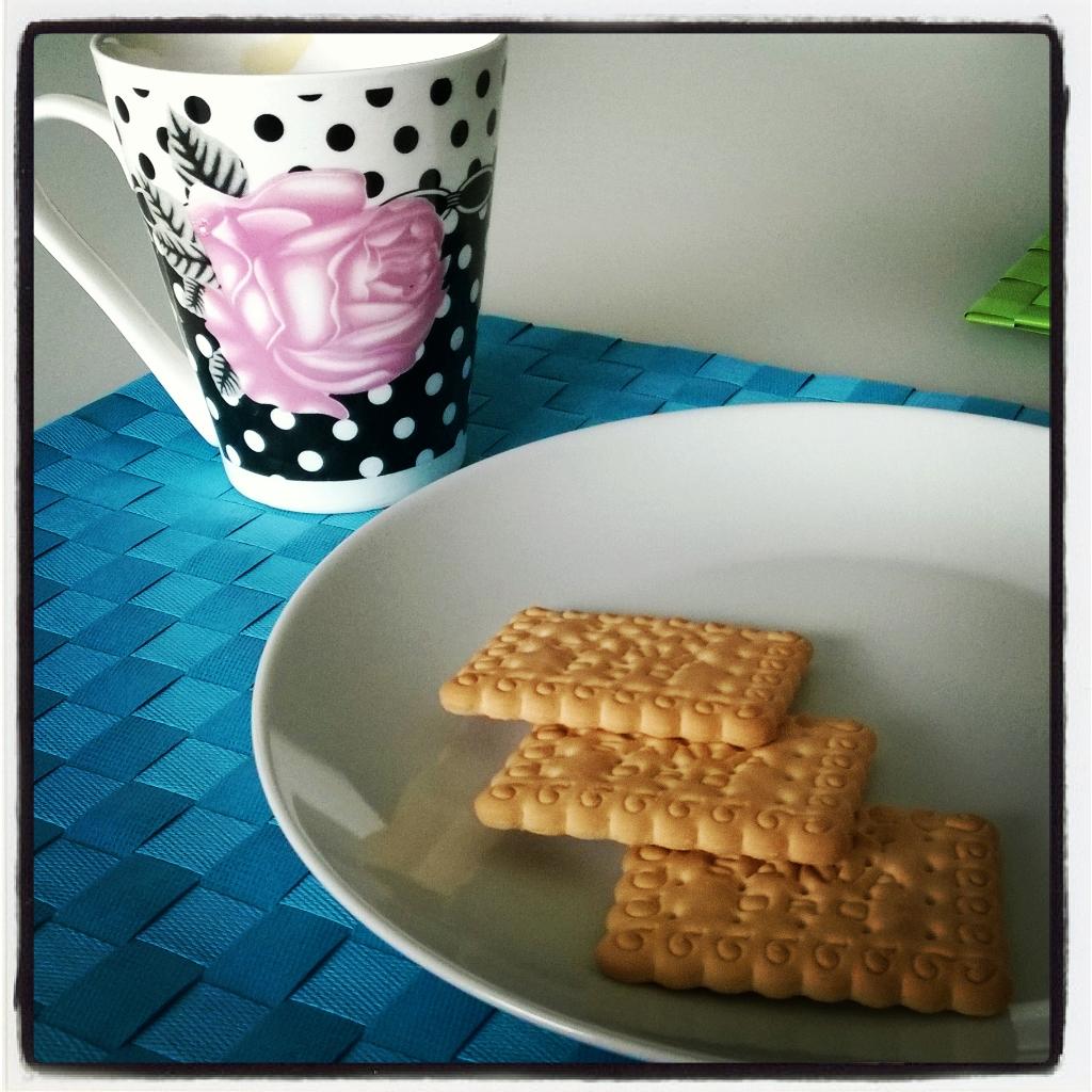 La mia nuova tazza da colazione