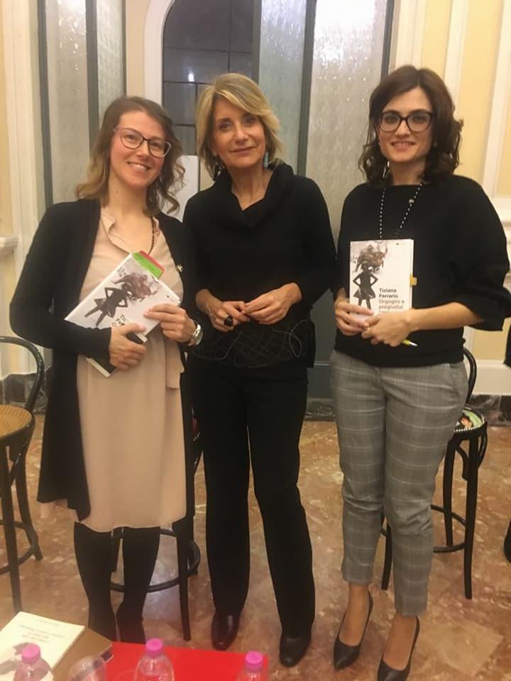 Catiuscia Ceccarelli (io) con Tiziana Ferrario e Chiara Cascio